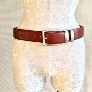 Vintage 90s Brighton Brown Leather Cowboy Belt